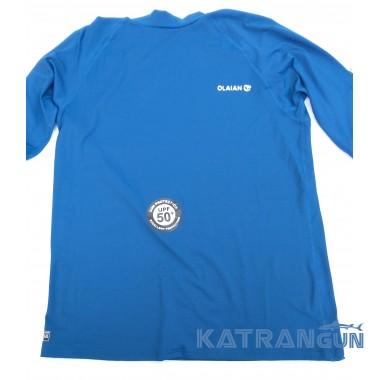 Лайкровая футболка для снорклинга Olaian; короткий рукав; синяя