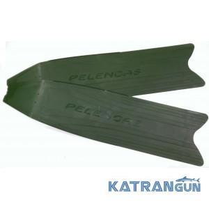 Лопасти для ласт Pelengas Green, пластиковые, средняя жесткость