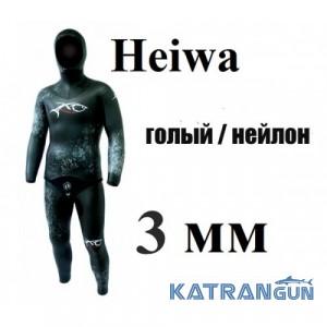 Гідрокостюм для тропіків XT Diving Pro Heiwa 3 мм; голий / нейлон