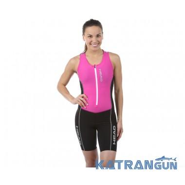 HEAD SWIMMING Стартовый костюм для триатлона женский черно-розовый