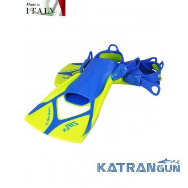 Ласты для тренировок Aqua Sphere Zip VX, lime/blue