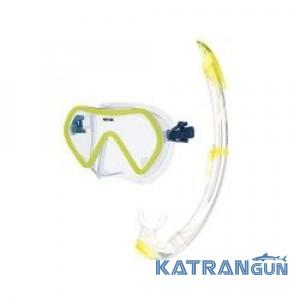 Набір маска для плавання + трубка Seac Sub Zenith, жовтий