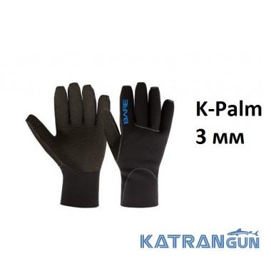 Перчатки для дайвинга Bare K-Palm 3 мм