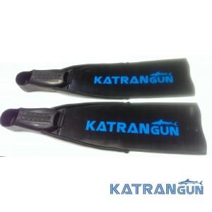 Охотничьи ласты стеклопластик KatranGun Black, в калошах Pelengas