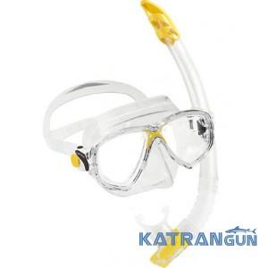 Дитячий набір для плавання Cressi Sub Marea Vip Junior; прозоро-жовтий