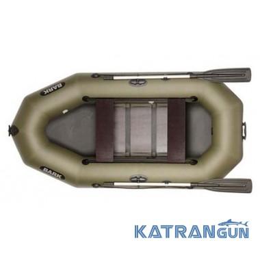 Надувний човен для риболовлі Bark B-260D, пересувні сидіння