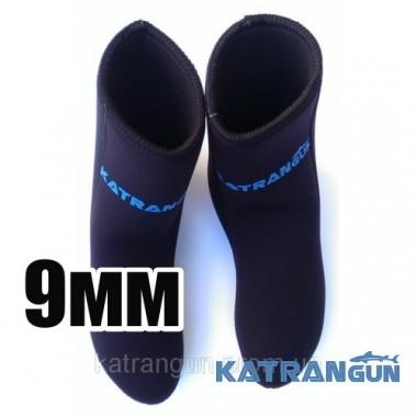 Неопреновые носки для ласт KatranGun Hunter Anatomic 9мм