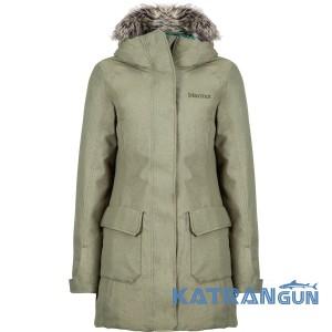 Стильная утепленная куртка женская Marmot Georgina Featherless Jacket, Beetle Green