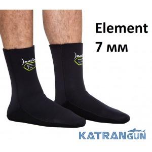 Шкарпетки для підводного полювання Marlin Element 7 мм; нейлон / відкрита пора