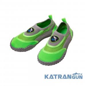 Пляжные тапочки IST Aqua Shoes, Gray/Green