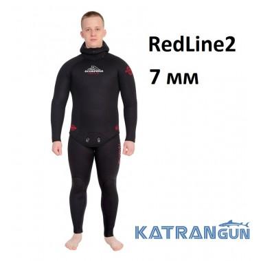 Гидрокостюм для подводной охоты Scorpena RedLine2; 7 мм