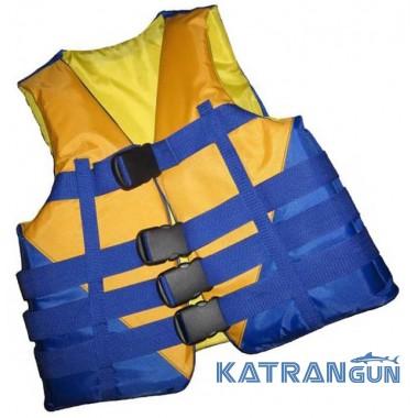 Страховочный жилет для рыбалки, желто-синий, 50-70 кг