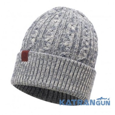 Вязаная шапка Buff Knitted Hat Braidy grey