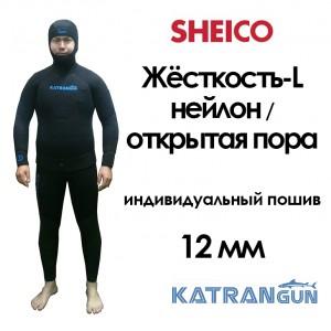 гидрокостюм на лютую зиму индивидуальный пошив 12мм Шейко L nilon-cell