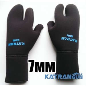 Рукавиці для підводного полювання KatranGun Hunter Pro 7 мм; нейлон / відкрита пора