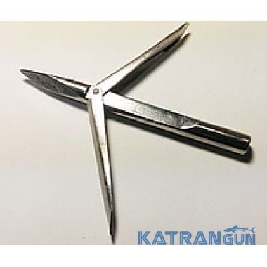 Наконечник для подводной охоты Katrangun Pro с удлинённым основаниеv, 2 флажка, трёхгранный