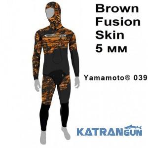 Гидрокостюм для фридайва и охоты Epsealon Brown Fusion Skin 5 мм