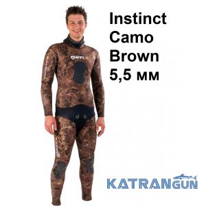 Гидрокостюм для подводной охоты Mares Instinct Camo Brown 5,5 мм