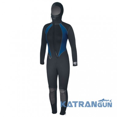 Монокостюм мужской Bare Alpine Hooded Full 7 мм