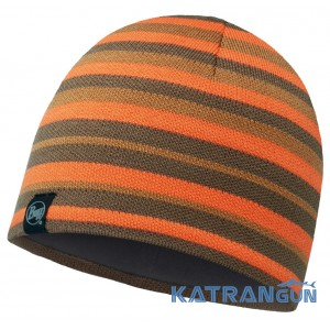 Вязанная шапка в полоску BUFF KNITTED & POLAR HAT LAKI STRIPES