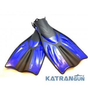 Ласты для дайвинга BS Diver Medusa (открытая пятка) синие