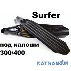 Ласты C4 SURFER BLACK SOFT под калоши 300/400