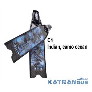 Карбоновые ласты С4 Indian camo ocean SF
