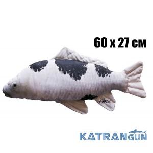 Подушка-игрушка Карп-Кои; бело-черный (60х27 см)