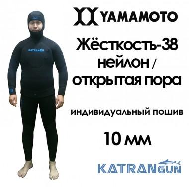 гидрокостюм сшить 10мм из неопрена yamamoto 38 neylon-cell, штаны с лямками