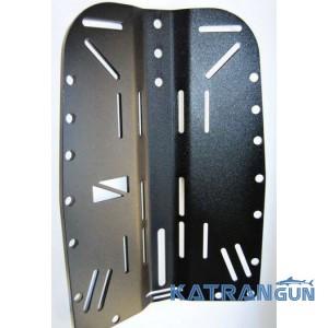 Спинка алюмінієва BS Diver; з прорізами; чорне анодування