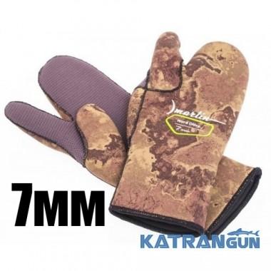 Трехпалые перчатки для подводной охоты Marlin Nord Oliva 7 мм