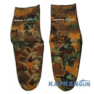 Шкарпетки підводного полювання Sigma Sub Anaconda 3 мм; камуфляж / відкрита пора