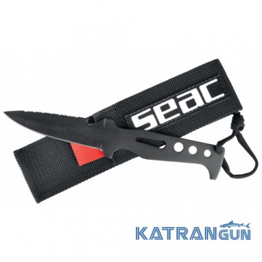 Цельный нож с тефлоновым покрытием Seac Sub Tajaman