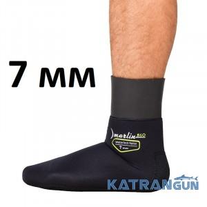 Носки с обтюрацией Marlin WaterLock Nylon Eco 7 мм; нейлон/нейлон