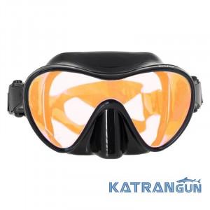 Маска Marlin Frameless Duo no logo с оранжевым стеклом
