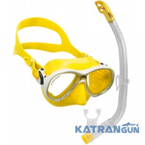 Набір для плавання дитячий Cressi Sub Marea Vip Junior; жовтий