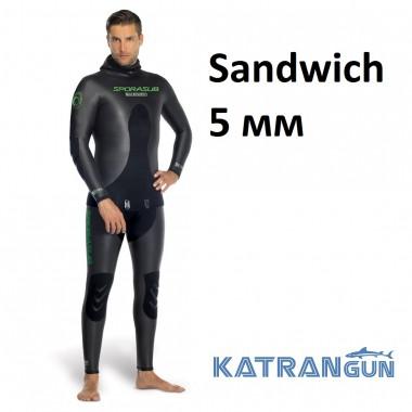 Гідрокостюм голий Sporasub Sandwich 5 мм