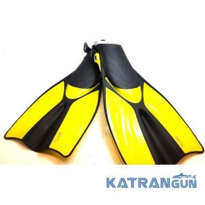 Ласты для дайвинга BS Diver Medusa (открытая пятка) желтые