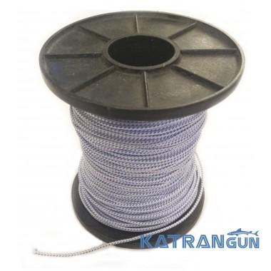 Линь для подводной охоты KatranGun 1,6 мм; нейлон; бело-синий