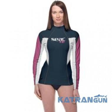 Жіноча футболка для плавання Seac Sub Raa Evo довгий рукав