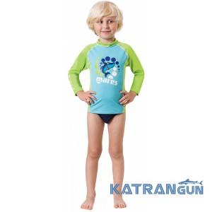 Лайкровая футболка малышей Mares Rash Guard Boy Kid, длинный рукав, для мальчика