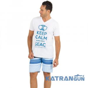Футболка для дайверов Seac Sub Keep Calm