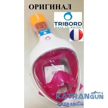 Маска Tribord Easybreath (полнолицевая) розовая
