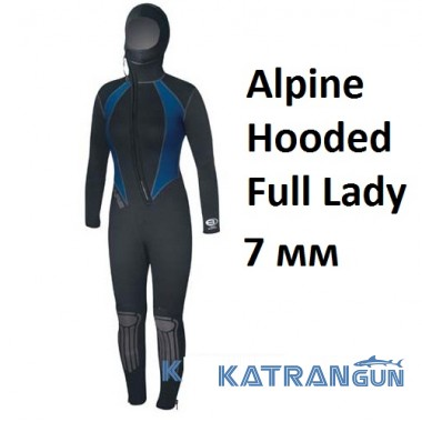 Женский гидрокостюм Bare Alpine Hooded Full Lady 7 мм
