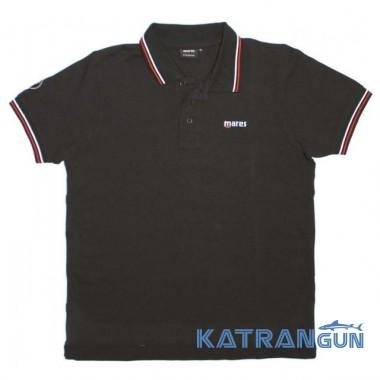 Мужские поло футболки дайверские Mares POLO, черная
