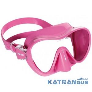 Детская маска для снорклинга Cressi Sub F1 Small; розовая