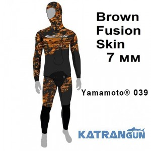 Гидрокостюм коричневый камуфляж Epsealon Brown Fusion Skin 7 мм