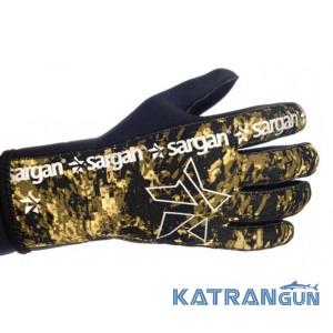 Перчатки для подводной охоты Sargan Сарго Камо, 3 мм