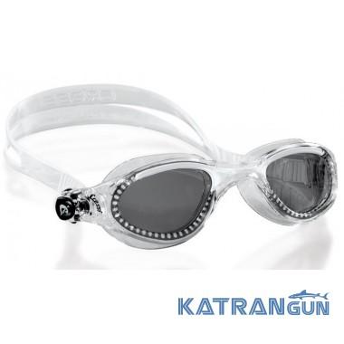 Очки для плавания Cressi Sub Flash прозрачно-белые; тонированные линзы