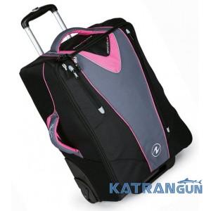 Женские дорожные сумки на колесах AquaLung Travel Bag, розовая